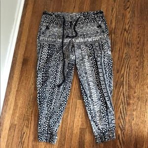 Patterned LOFT pants with tie